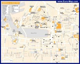 Карта центра Марселя с достопримечательностями