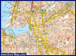 Подробная карта Марселя с достопримечательностями