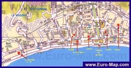 Карта центра Ментоны