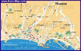 Подробная карта города Ментона