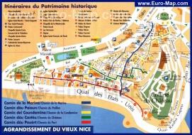 Карта старого города Ниццы