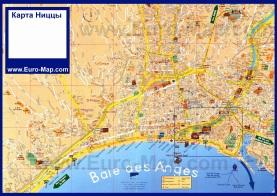 Подробная карта Ниццы