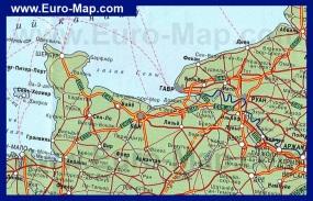 Карта Нормандии на русском языке