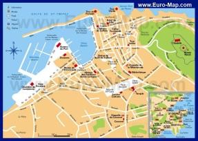 Туристическая карта Сан-Тропе (Сен-Тропе)