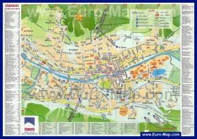 Подробная карта Шамони