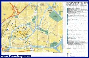 Карта города Страсбург с достопримечательностями