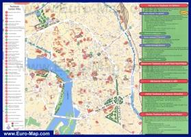 Подробная карта Тулузы с достопримечательностями