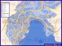 Подробная карта города Вильфранш-сюр-Мер с отелями