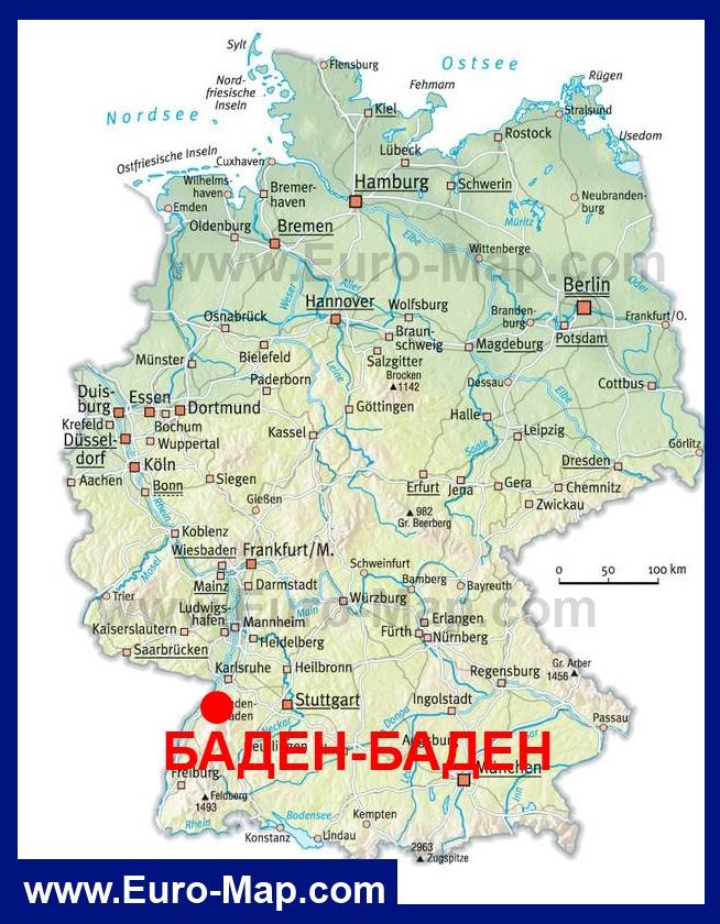 Karta Germanii Baden Baden Eta Karta Obnovlena Aktualnaya Versiya