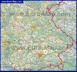 Подробная карта Баварии на русском языке