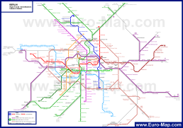 Карта метро Берлина