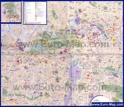 Подробная карта Берлина на русском языке
