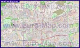 Подробная карта города Дортмунд