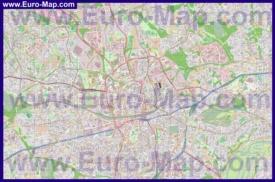 Подробная карта города Эссен