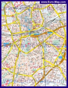 Туристическая карта Эссена с достопримечательностями