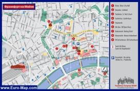 Туристическая карта Франкфурта-на-Майне с достопримечательностями