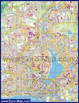 Подробная карта города Гамбург