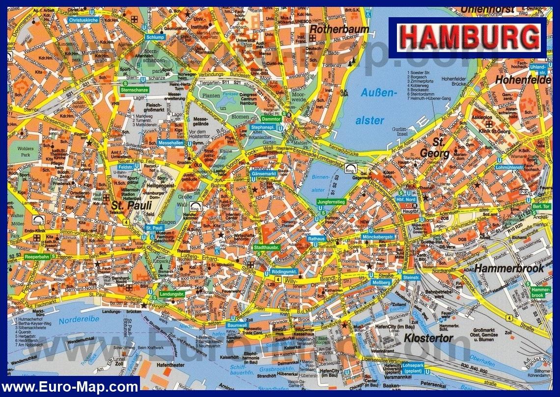 Схема метро гамбурга