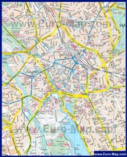 Карта города Ганновер