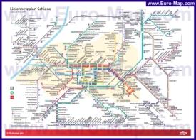 Карта маршрутов транспорта Карлсруэ