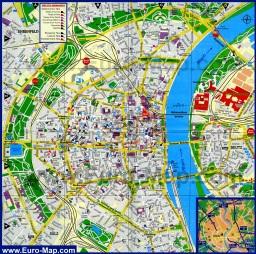 Подробная карта Кёльна с достопримечательностями