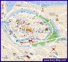 Туристическая карта Любека с достопримечательностями, парковками и туалетами