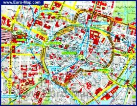Туристическая карта Мюнхена с достопримечательностями