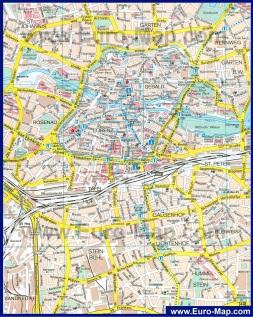 Карта города Нюрнберг