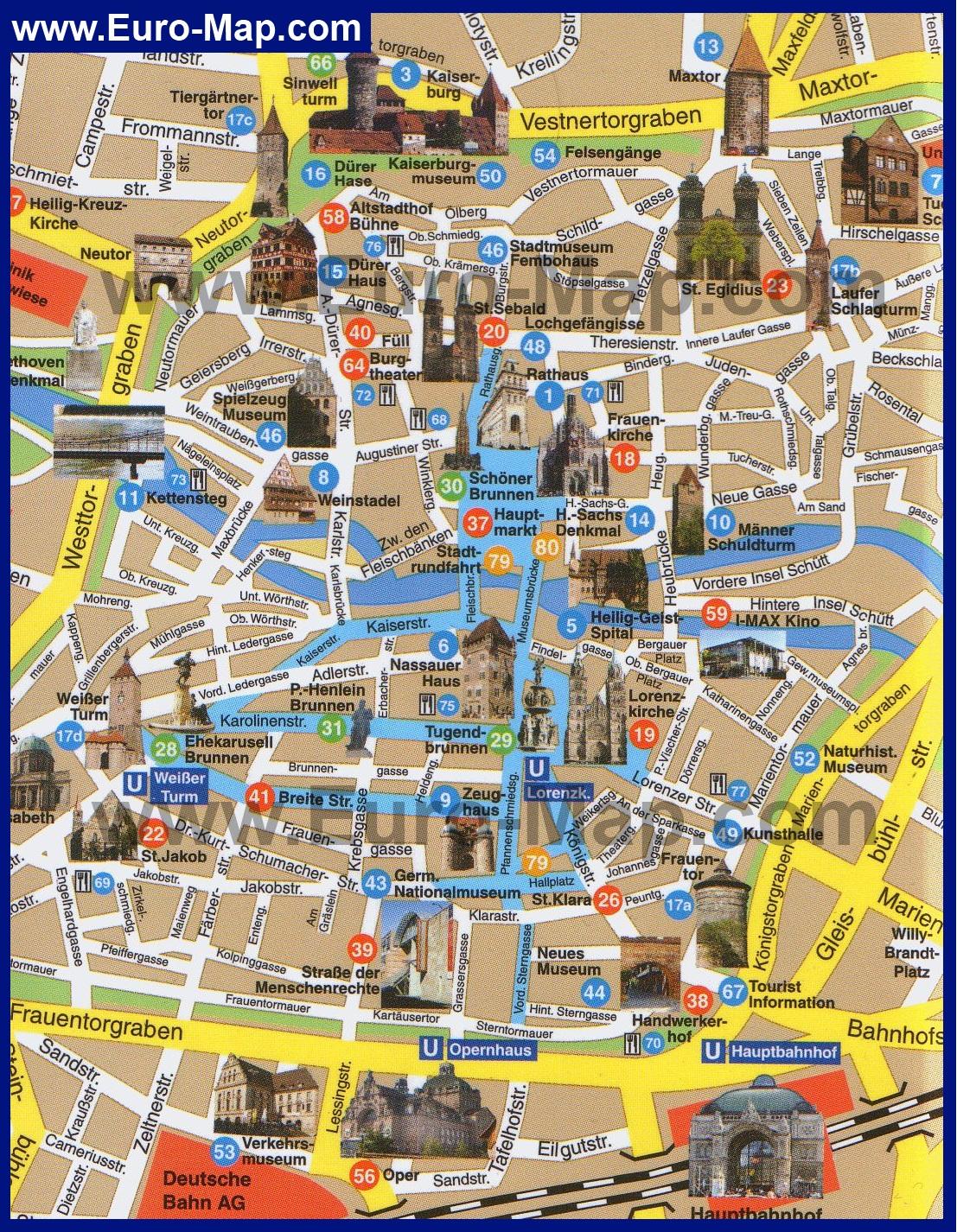 С достопримечательностями карта