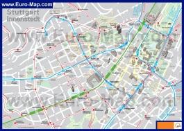 Карта центра Штутгарта с достопримечательностями