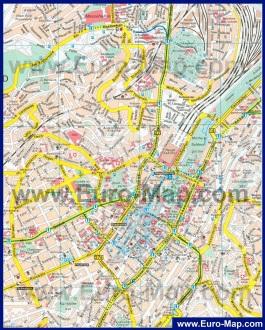 Карта города Штутгарт