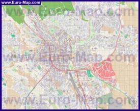 Подробная карта города Висбаден