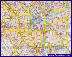 Туристическая карта Висбадена с достопримечательностями