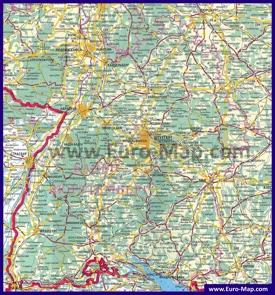 Подробная карта Баден-Вюртемберга на русском языке