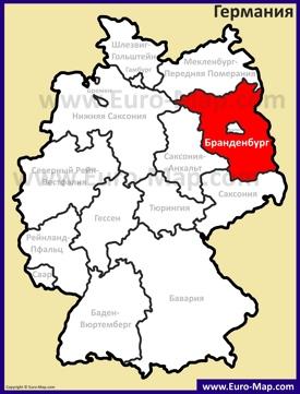 Бранденбург на карте Германии