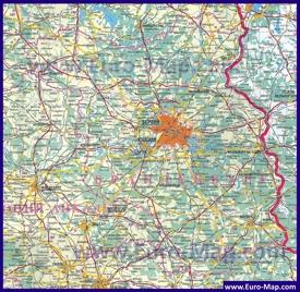 Подробная карта Бранденбурга на русском языке