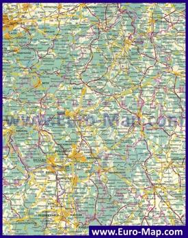 Подробная карта Гессена на русском языке