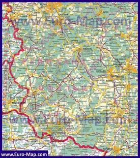 Подробная карта Рейнланд-Пфальца на русском языке