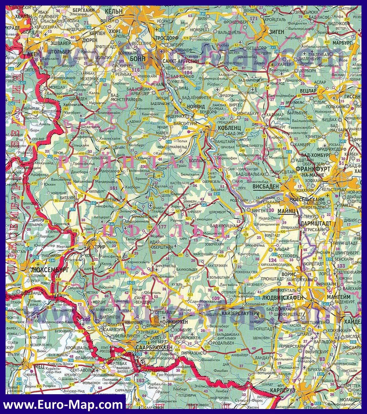 Земля рейнланд пфальц карта нумизматы ельца