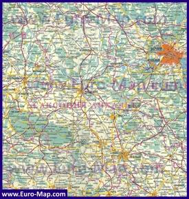 Подробная карта Саксонии-Анхальт на русском языке