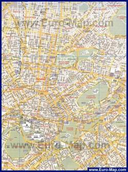 Карта города Афины