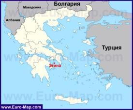 Эгина на карте Греции