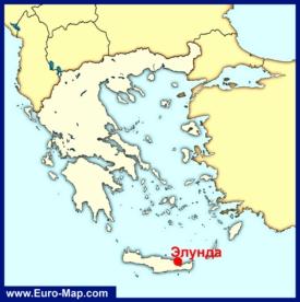 Элунда на карте Греции