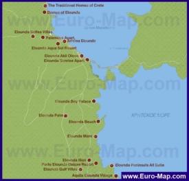 Карта отелей Элунды