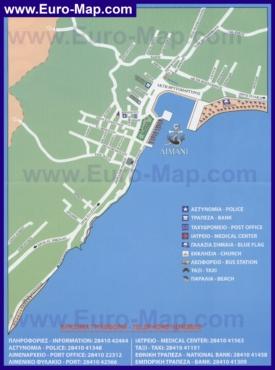Подробная туристическая карта города Элунда