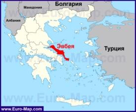 Эвбея на карте Греции