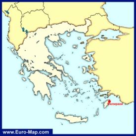 Фалираки на карте Греции