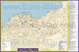 Подробная карта города Ханья