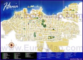 Туристическая карта Ханьи с достопримечательностями