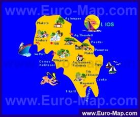 Туристическая карта Иоса